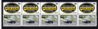 PETER BROCK MOTOR RACING LEGEND STRIP OF 10 MINT VIGNETTE STAMPS TORANA