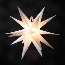 Led Weihnachtsstern Weiß, Adventsstern, für Außen, Kunststoff 55cm Mit led lamp