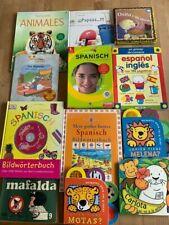 Spanisch: 11 Bücher Wörterbücher Sprachkurs Karteikarten/-kasten