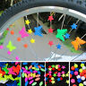 36Pcs/Set Assorted Colored Bicycle Bike Wheel Plastic Spoke Clip Beads DIY Decor