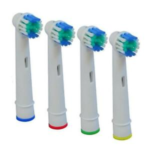 4X Cross Action Replacement Heads for Oral B Electric Toothbrushes Pack of 4