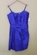 "NWT Calvin Klein Metallic ""Luminous"" Periwinkle Pleated Stretch Dress 12 $168"