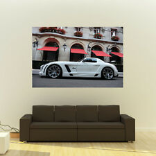 Poster of Mercedes SLS AMG Fab Design Giant Super Car Huge Print 54x36 Inches