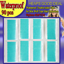 90 X BLUE DOUBLE SIDED SIDE TAPE FORTAPE SKIN WEFT HAIR EXTENSIONS HOLD 3 MTHS