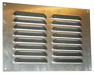 Multi-slotted fixed hook louvre grille ventilator for van bus caravan air vent