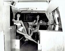 1967 Original DBLWT Photo fashion model beauties pose in bikinis on Motorhome RV
