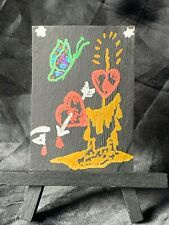ACEO Original Love Candle Light Medium Mixed Media Marker on Paper Signed Artist