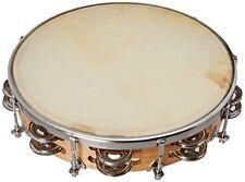 Fuzeau Tambourin 25 cm Peau naturelle 18 cymbalettes