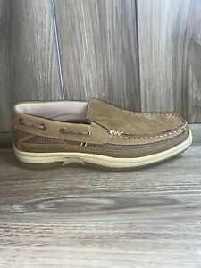 Thom Mcan Mens Kolby Tan Square Toe Leather Slip On Casual Loafer Shoes Sz 8 M