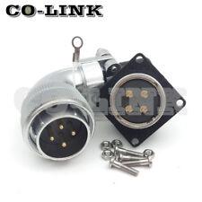 WS28 4Pin Waterproof Power Connector,25A 500V Bulkhead Connector Aviation Plug