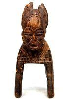 Arte Africano - Antica & Autentica Puleggia Di Mestiere Per Telaio Senoufo Janus