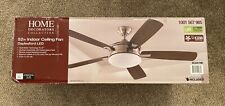 "Home Decorators Collection Daylesford 52"" LED Indoor Ceiling Fan, Brushed Nickel"