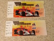 2 Ticket Stub LOT, 2003 INAUGURAL Grand Prix Race St Petersburg FL Formula 1