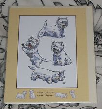 WEST HIGHLAND TERRIER GREETINGS CARD with a happy birthday message inside