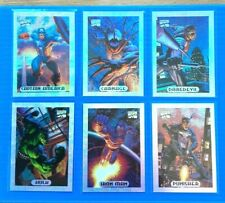 MARVEL MASTERPIECES 1994 Fleer Complete SILVER HOLOFOIL Chase Card Set (10)