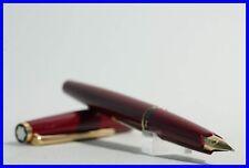 Perfect 221 BURGUNDY MONTBLANC fountain pen w. 585 Gold nib / W.GERMANY