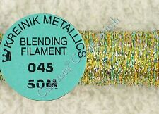 Kreinik Blending Filament 045 Confetti Gold Metallic Thread 50M Cross Stitch