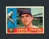1960 TOPPS # 483 CAMILO PASCUAL  NM +