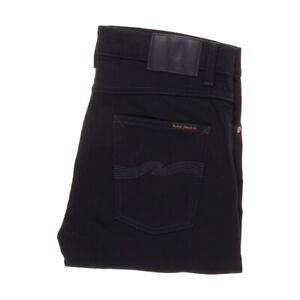 NUDIE Lean Dean Dry Ever Black W32 L30 MENS BLACK JEANS STRETCH DENIM 32/30 Mint