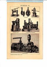 ca 1890 Technical Machinery Steam Water Electric Pump Pulsometer Antique  Print