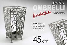 PORTA OMBRELLI IN FERRO BATTUTO QUADRATO H45 CM IRO-592614