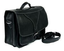 Real Leather Messenger Bag Shoulder College Crossbody Satchel Causal all-rounder