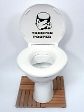 Star Wars Estilo 2 Trooper Pooper Asiento del Inodoro Pegatina Diversión Calcomanía Vinilo Sticker