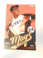 WILLIE MAYS SAY HEY TUESDAY Posters SF Giants 2018 Authentic Fan Cheer Cards SGA