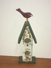 Decorative Bird House With Cardinal