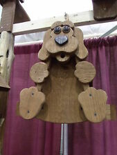 Rustic Dog Bird Feeder Amish Handcrafted Made in Usa !