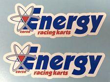 Energía Racing Kart Estilo 2 X 100mm Adhesivos-Karting-Impreso & Laminado