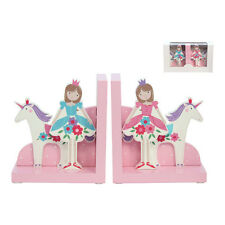 Ballerina Wooden Bookends – Gisela Graham – Pink Girls Unicorn Princess Bedroom