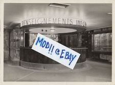 Vintage SS NORMANDIE First Class Information Desk Press Photo