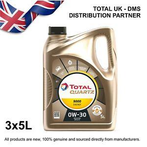 Total Quartz 9000 Energy 0w-30 Engine Oil (3x5ltr)