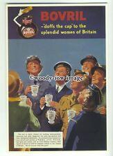 """ad3618 - Bovril - """"Doffs It's Cap"""" - Modern Advert Postcard"""
