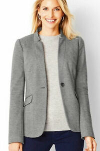 Talbots Aberdeen  Gray Blazer Jacket Sz 8 NWOT