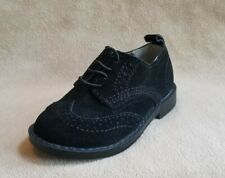 New Toddler Boys Shoe Size 5  BABY GAP Black Suede Wingtip Oxford Dress Shoes