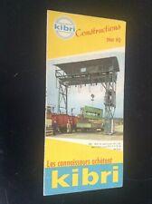 Ancienne brochure Jouets Kibri