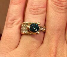SOPHIA FIORI VENUS RING 1.15 CARATS BLUE DIAMOND W/ 1.84 ACCENT DIAMONDS SIZE 7