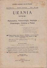 Urania, rivista, 1926, anno XV n. 6, astronomia, mineralogia, chimica, fisica