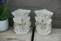PAIR antique vieux paris porcelain vases