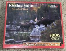 Kissing Moose 1000 Piece Puzzle Great Outdoor Series *FREE SHIPPING*