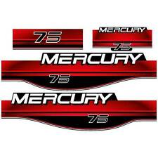 Mercury 75 outboard (1994-1998) decal aufkleber sticker set