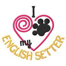 "I ""Heart"" My English Setter Sweatshirt 1355-2 Sizes S - Xxl"