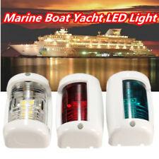 3 Pieces 12V Yate Barco Náutica Mini Tope Mástil Estribor Port Navegación Luz