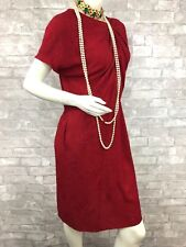 Auth $1,250 New MARNI Runway Red Silk Cocktail Dress Shirt Top 8 US 44 IT M