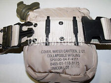 LC Pistol Belt + 2Qt Collapsible Canteen Cover Pouch Desert Tan US Army Military