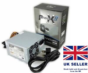 Sumvision X3 500W Silent Fan PC Power Supply ATX Computer PSU FREE Power Cable