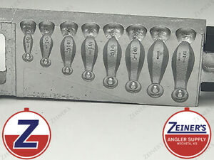 1101 New DoIt Bank Sinker Mold - 8 Cavities 1/8 thru 1 1/2 oz sizes - 001