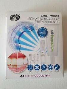 Rio Smile white advanced blue light teeth whitening kit.  New not used.